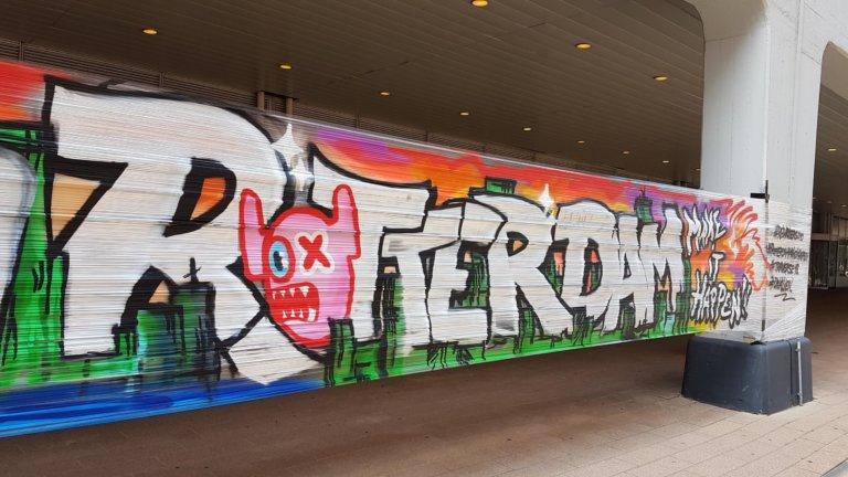 Traverse Rotterdam streetart street art make it happen