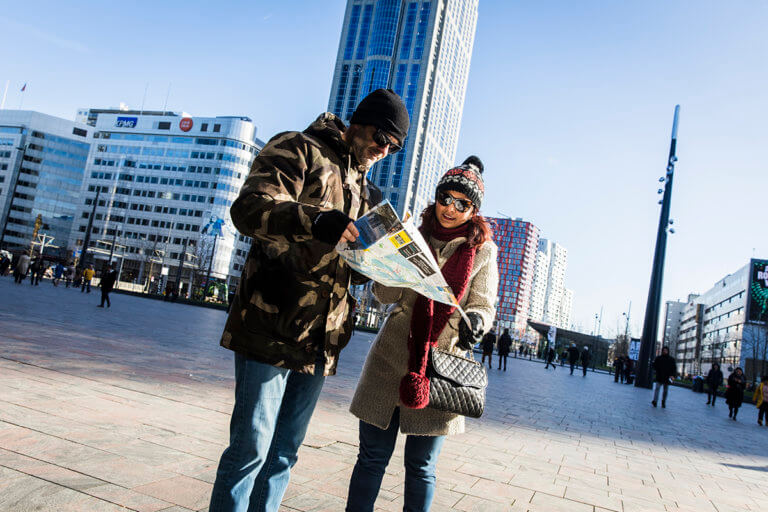 Tourists in Rotterdam