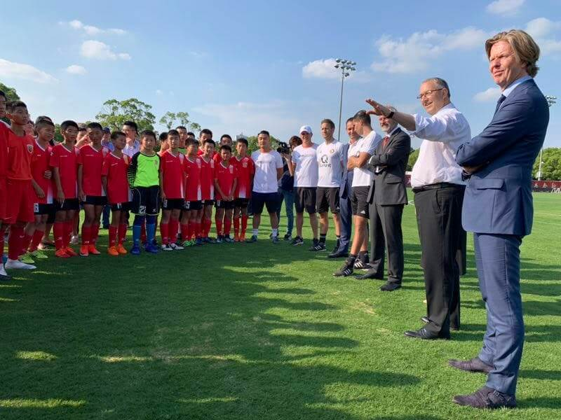 Day 5: Feyenoord gave clinics to the youth players of the Shanghai International Port Group (SIPG)