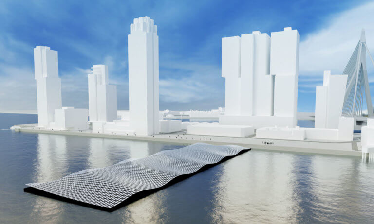 Floating solar park Rotterdam Rijnhaven