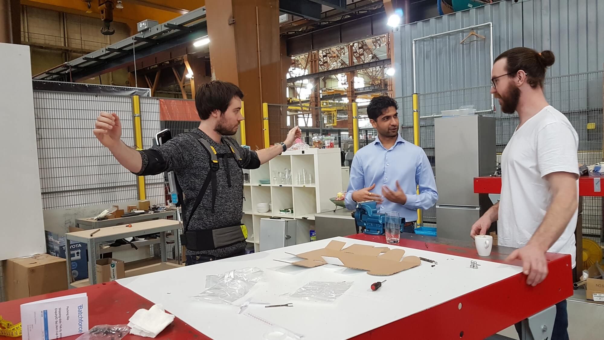 Gaurav and the Skelex team discuss future developments to the exoskeleton.