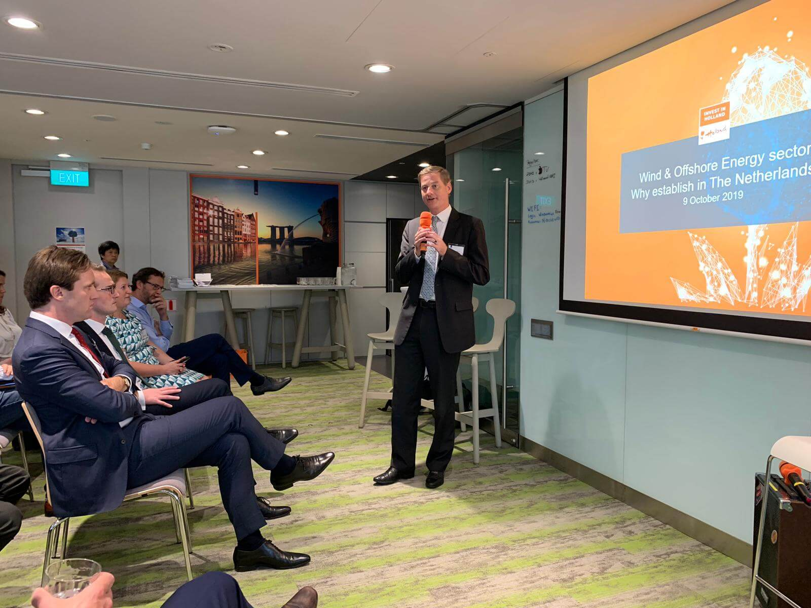 #RotterdamSingapore #CleanTech mission 2019, day 3: Investment Seminar about Offshore Wind.