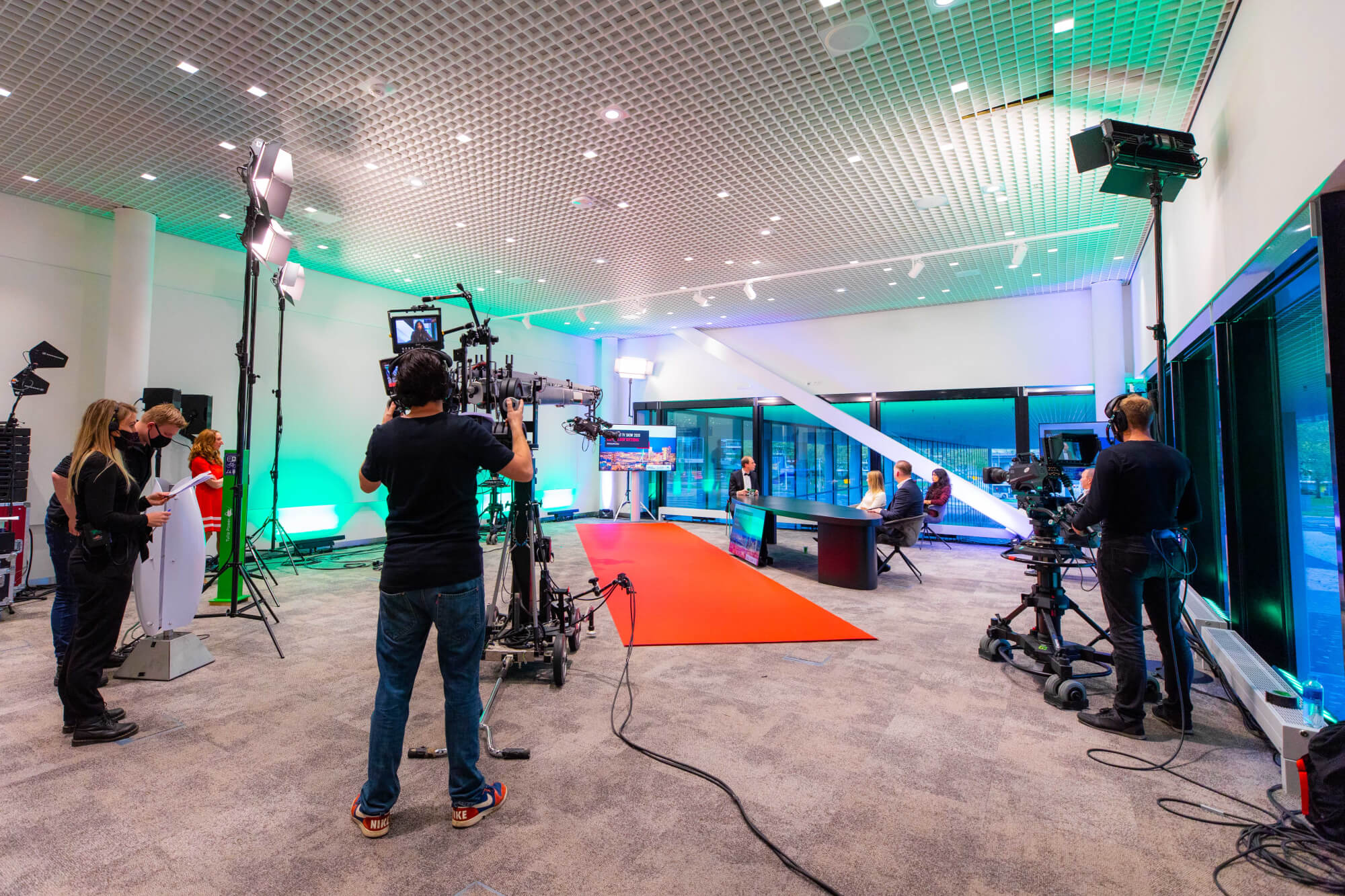 The Red Carpet TV Show 2020 was broadcast live online from a studio at Rotterdam Ahoy Convention Center.