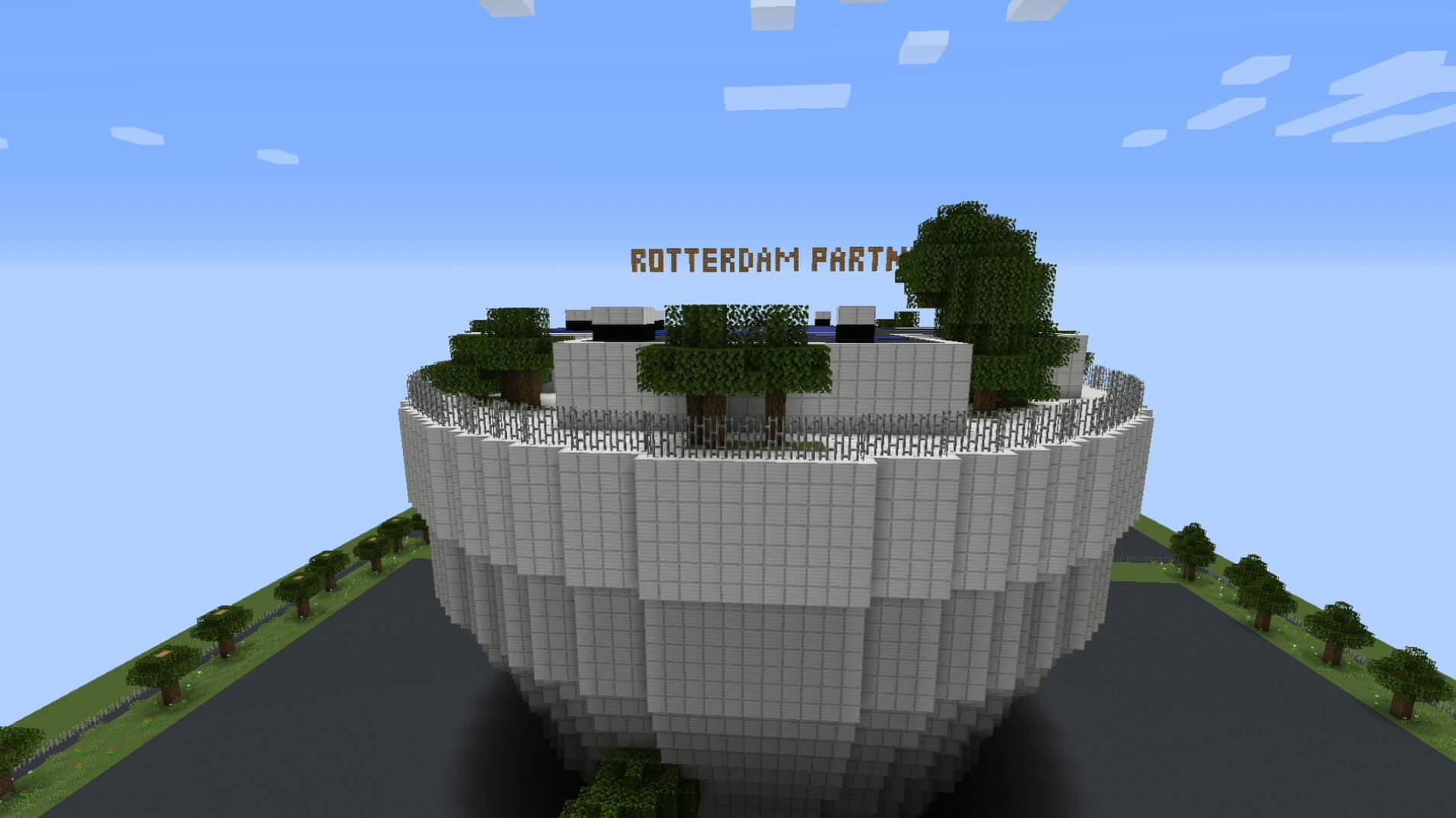 Students recreated the Depot building of Museum Boijmans Van Beuningen live in Minecraft.