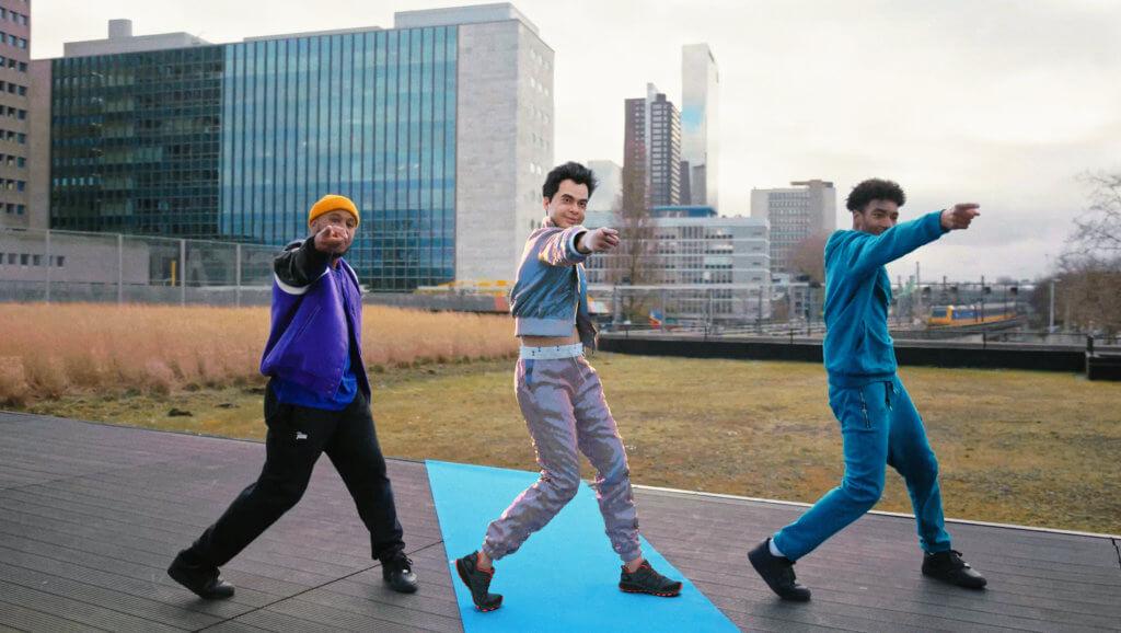 Screenshot of William Lee Adams' avatar dancing in Rotterdam