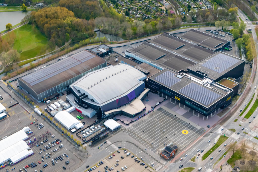 Rotterdam Ahoy, the venue for the Eurovision Song Contest 2021